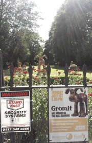 Gromit in the Mall Gardens, Clifton